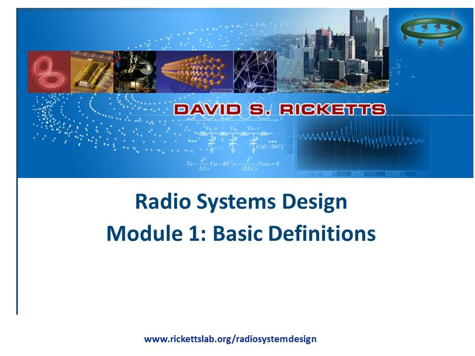 Module 1: Basic Definitions
