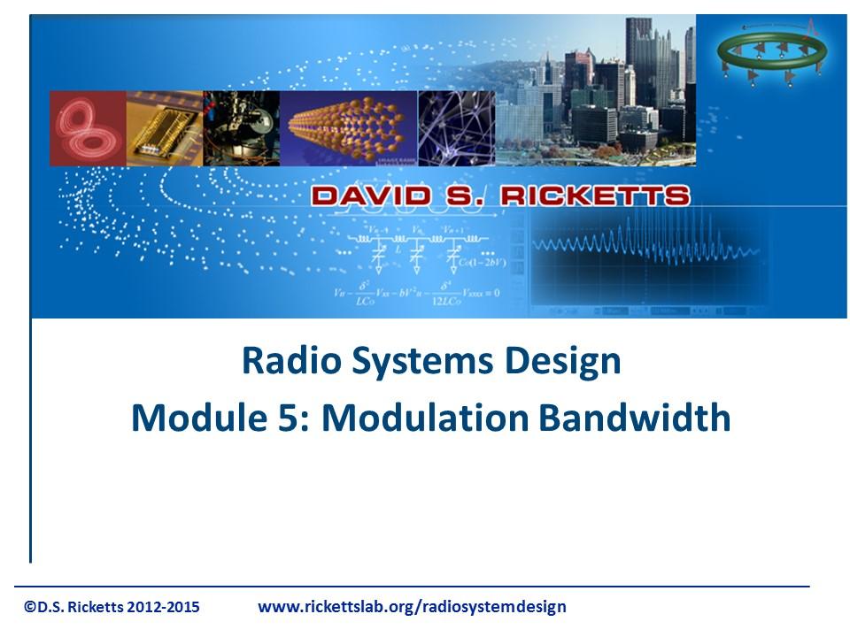 Module 5: Modulation Bandwidth