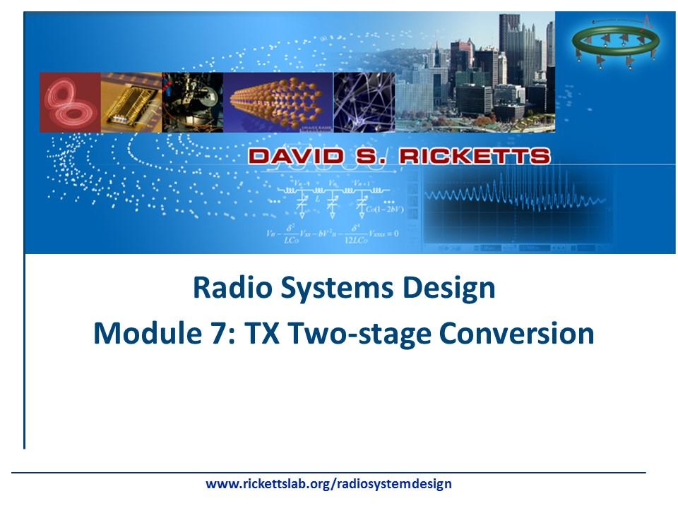 Module 7: Tx Two-stage Conversion (Heterodyne)