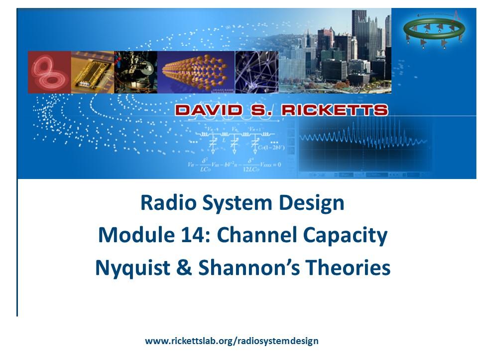 Module 14: Channel Capacity