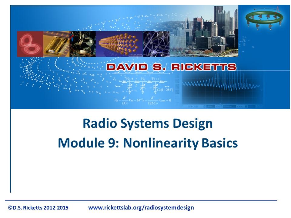 Module 9: Nonlinearity Basics