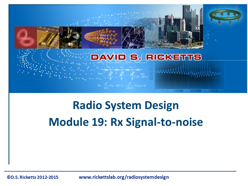 Module 19 Receiver Signal-to-noise Ratio
