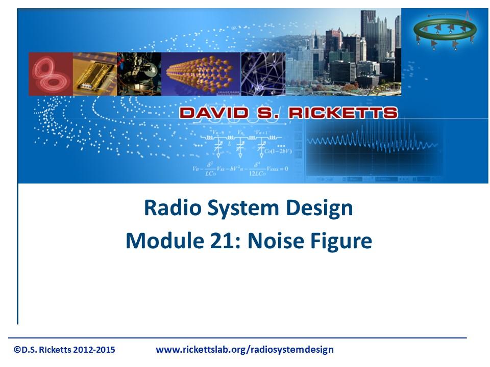 Module 21 Noise Figure