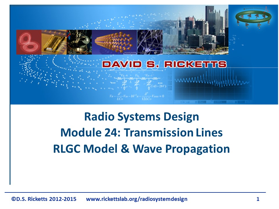 Module 24 Introduction to Transmission Lines