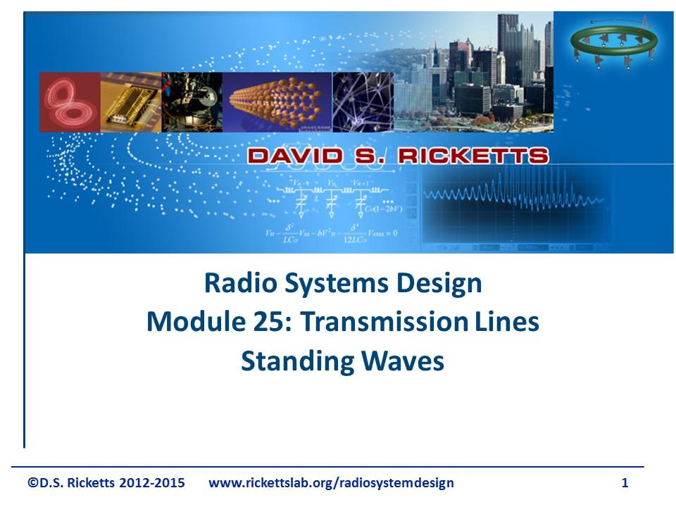 Module 25 Standing Waves on Transmission Line