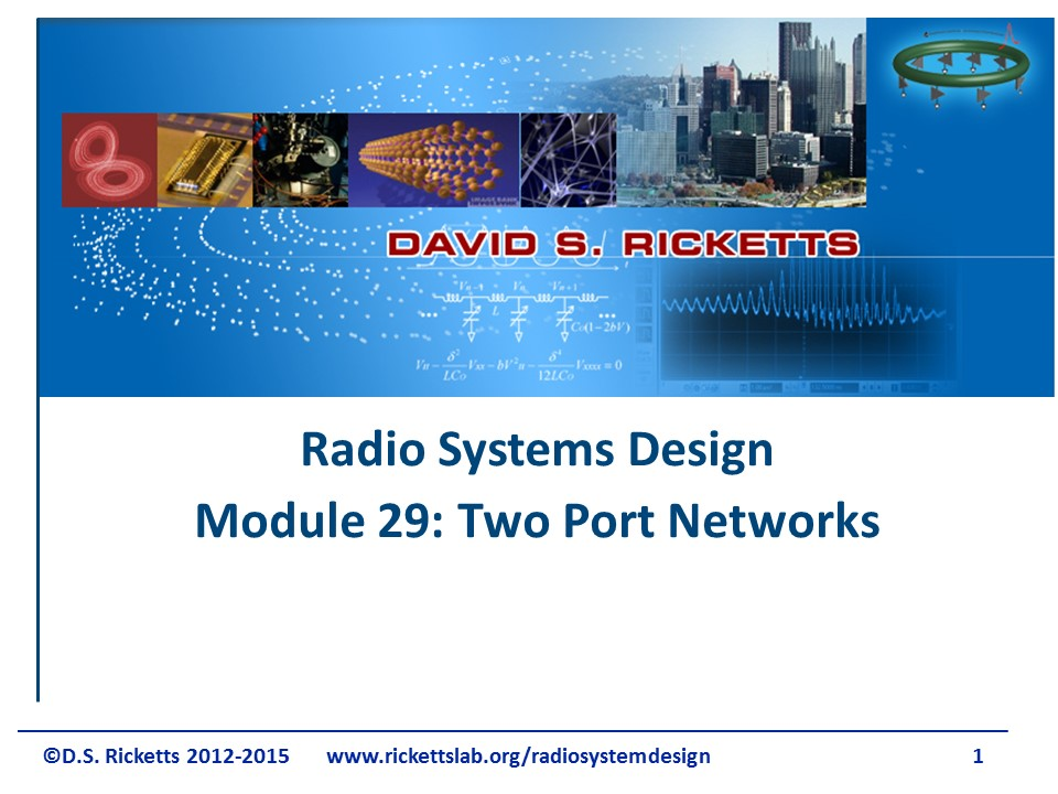 Module 29 Two-Port Networks