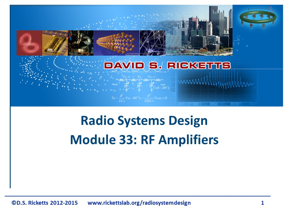 Module 33: RF Amplifiers