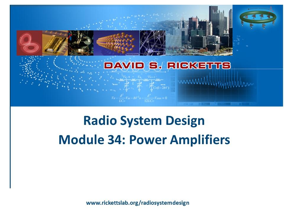 Module 34: Power Amplifiers
