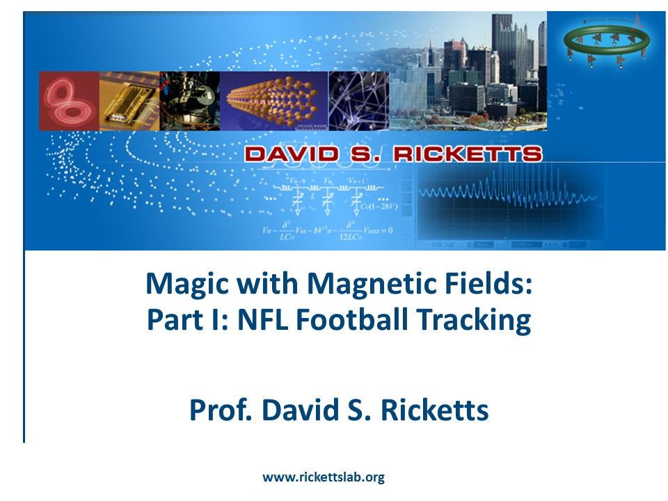 Talk at UW: NFL-Disney Footbal Tracking