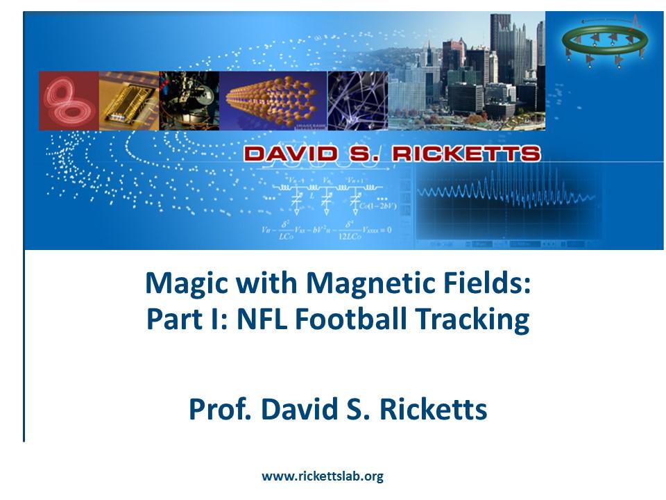 Talk at UW: NFL-Disney Footbal Tracking