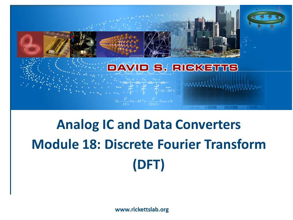 Module 18: Discrete Fourier Transform