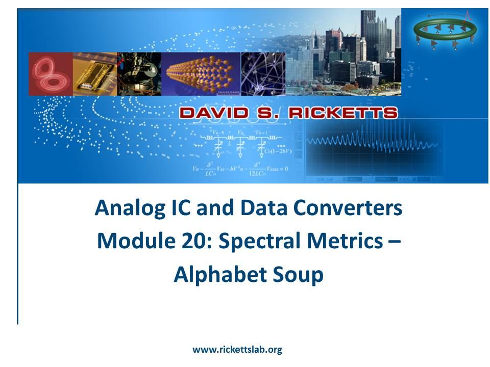 Module 20: Spectral Metrics - Alphabet Soup